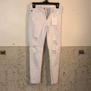 KanCan White Ripped Jeans
